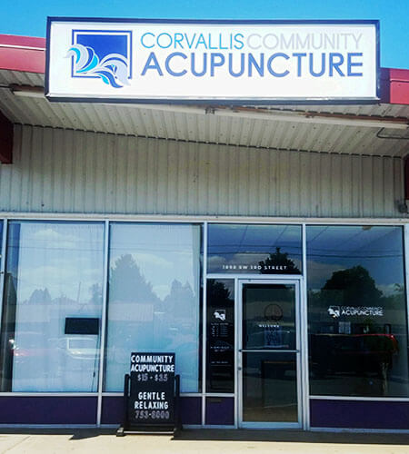 Corvallis acupuncture center is located on 3rd street in south Corvallis, Oregon